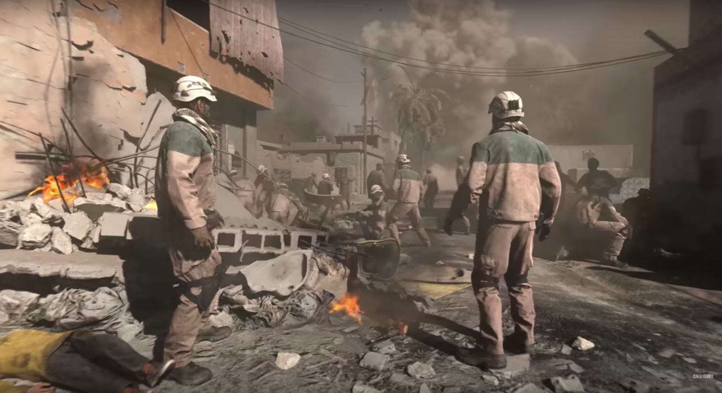 The new Call of Duty openly supports the White Helmets – This is a red flag