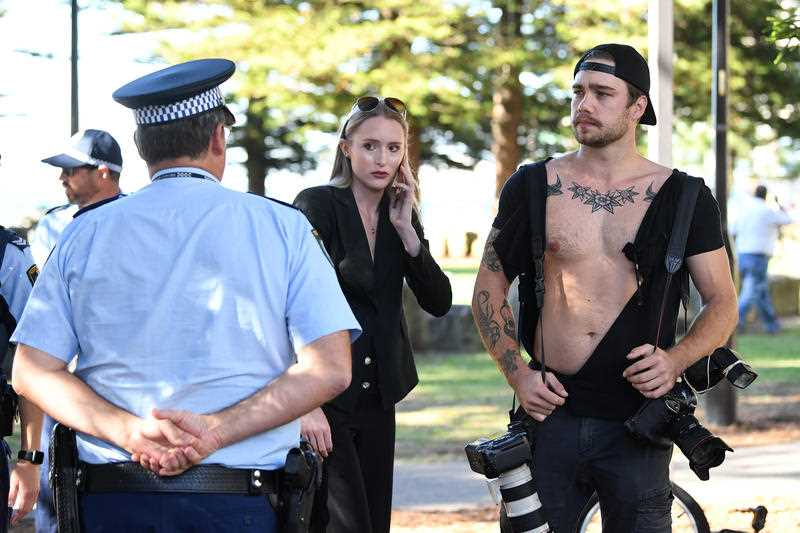 Anning supporter arrested after 'physical altercation' with media