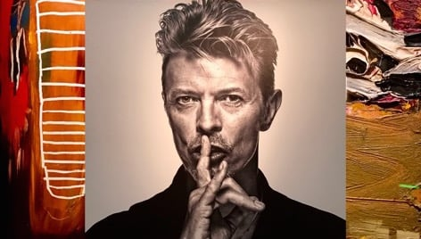 Channelling David Bowie through his art collection