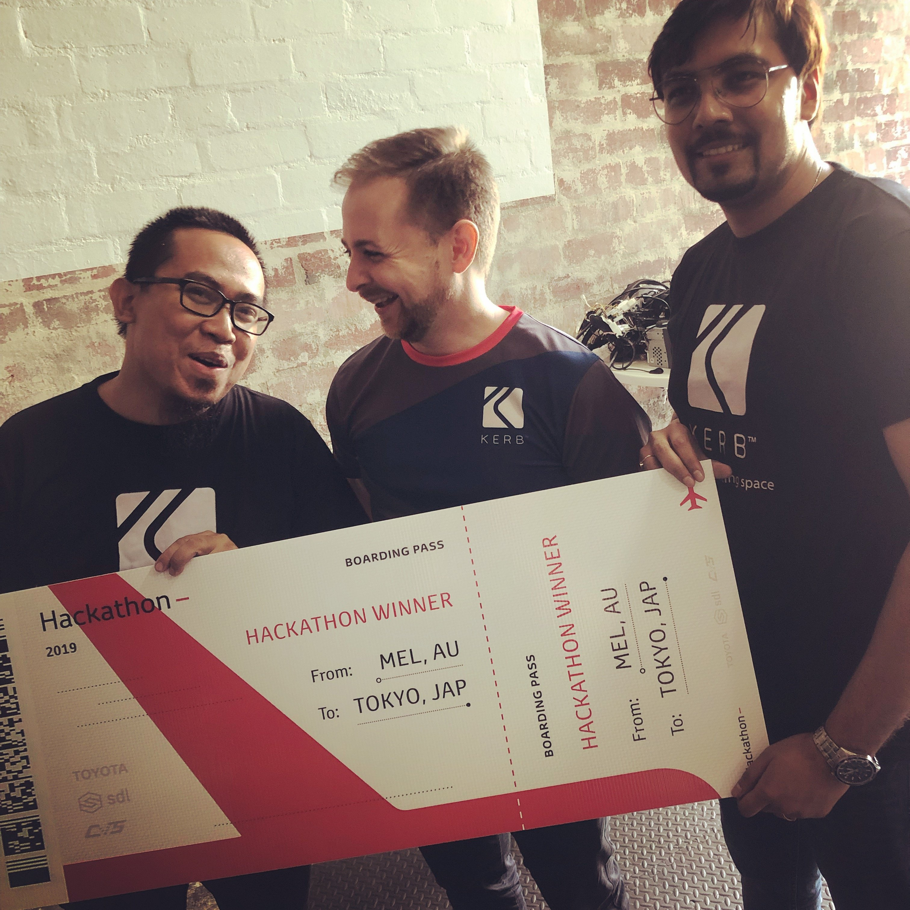 Kerb: Oh, what a feeling to win the Toyota Hackathon