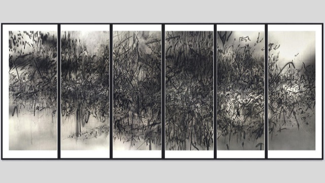 Julie Mehretu: Epigraph, Damascus – Syrian Civil War comes to life in art