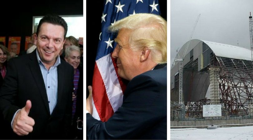 While you were asleep: Xenophon enables ABCC, Trump saves flags, Chernobyl's fancy new dress