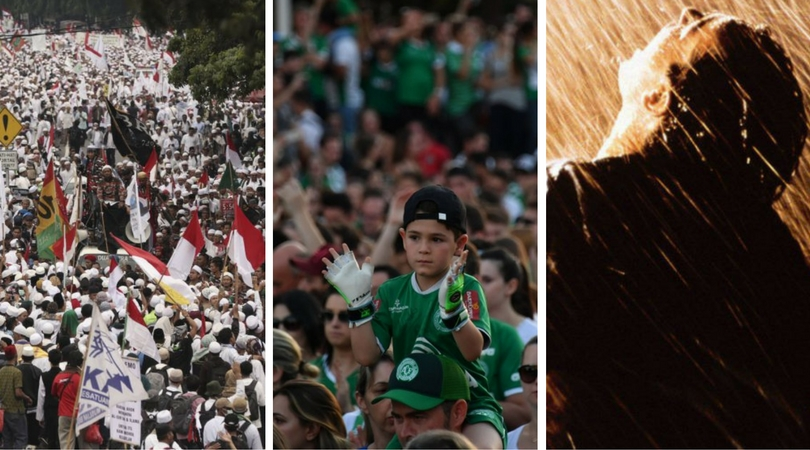 While you were asleep: Indonesians demonstrate against rally, Brazilian team honoured, nation likes fresh fish
