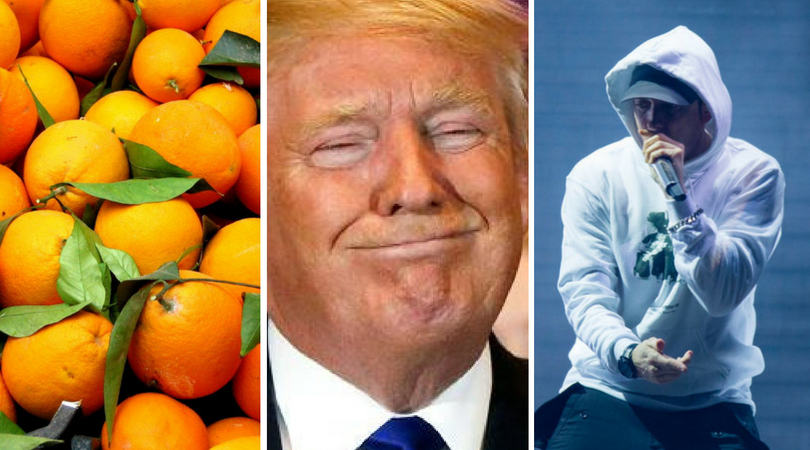 While you were asleep: State of Oranges I, Trump dumps Paris, Eminem admits plagiarisation