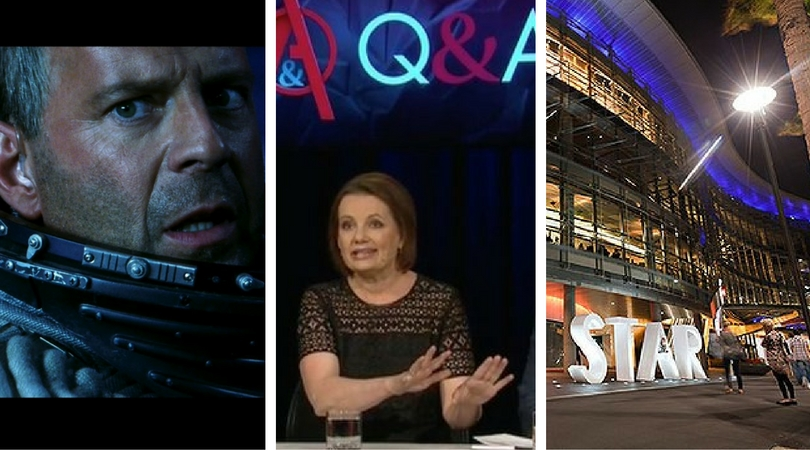 While you were asleep: Asteroid near miss, Ley Ley on QandA, Star in violent strife