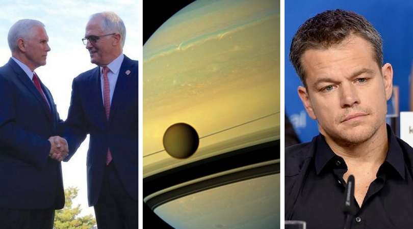 Current Affairs Wrap: Pence drops in, alien life on Saturn, Prince zings Damon
