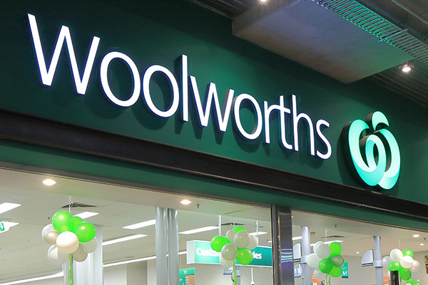 Elderly and disabled shoppers line up to find empty shelves at Woolworths