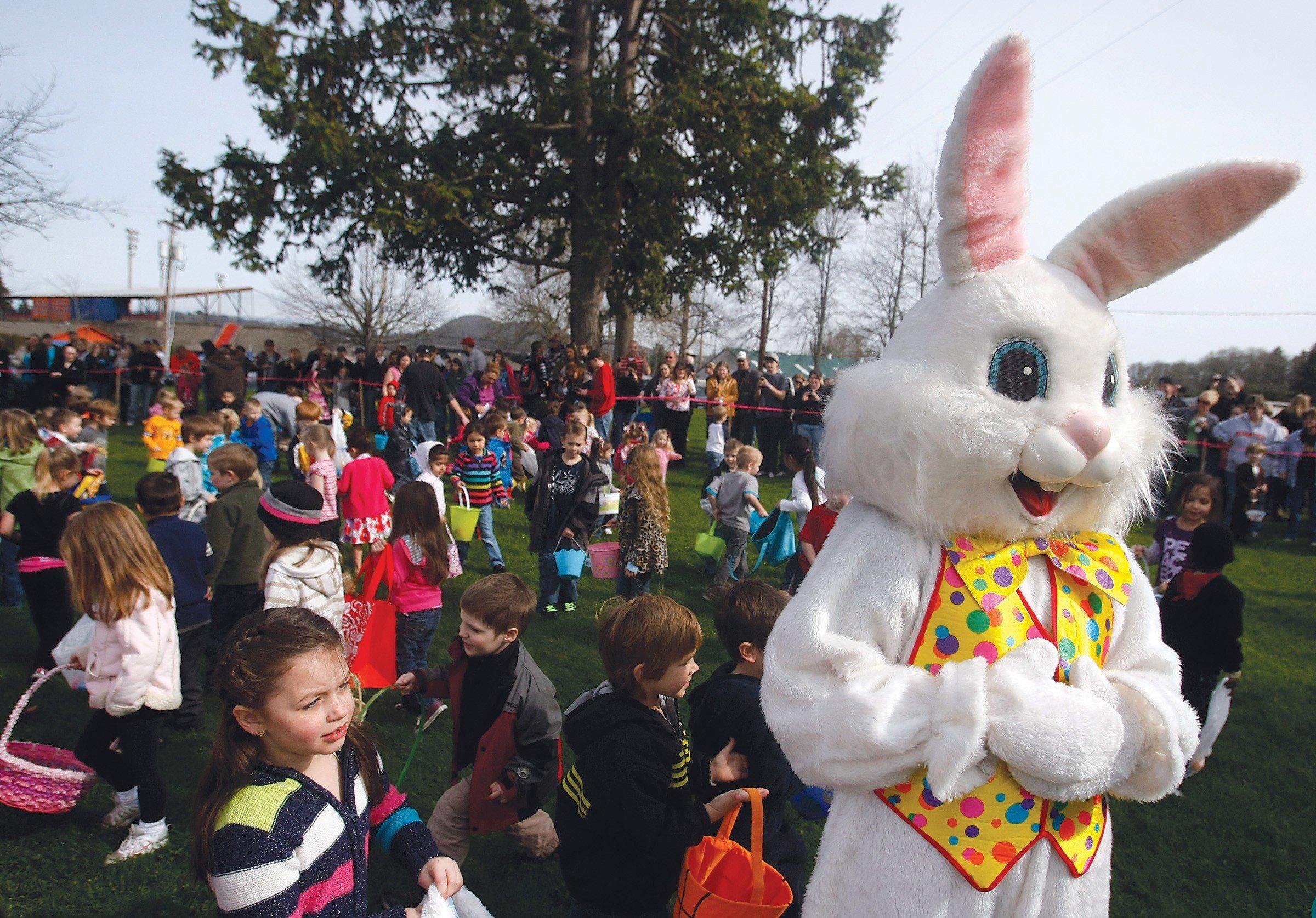 The family Easter Egg Hunt