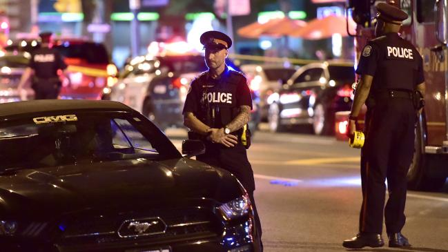 The Toronto shooting so far: 14 wounded, one dead and four awful seconds of footage