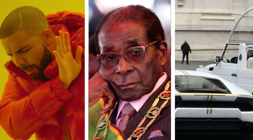 While you were asleep: Drake stops show, Mugabe gets sacked, The Pope