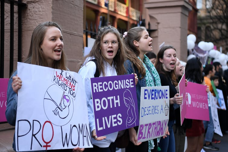 The US anti-abortion movement is influencing the debate in our country