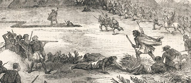 When white Australians fought against the Maori for control of their land