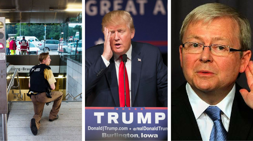 Current Affairs Wrap: Munich shooting, Trump's triumph, return of Rudd?