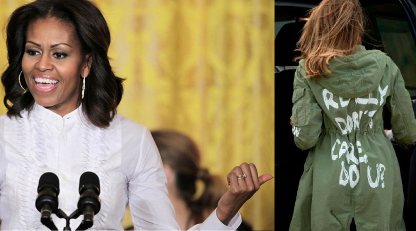 First things first: Michelle was who we deserved, not Melania