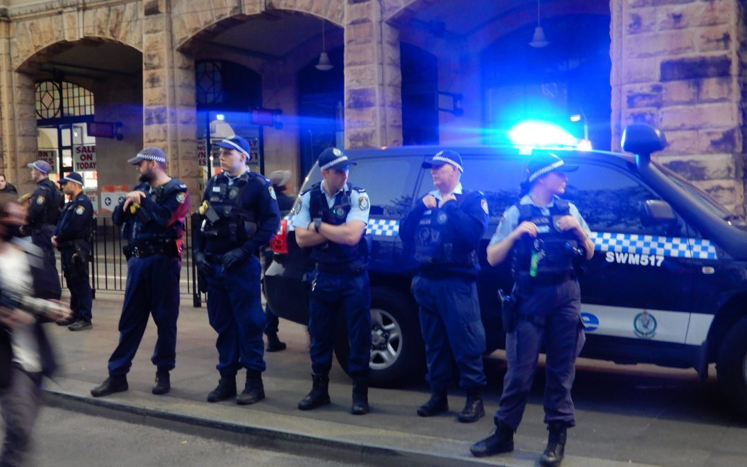 An eyewitness account of the police pepper spraying demonstrators at Central Station