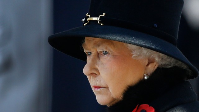 Queen Elizabeth is down to her last million. Poor Lizzie.