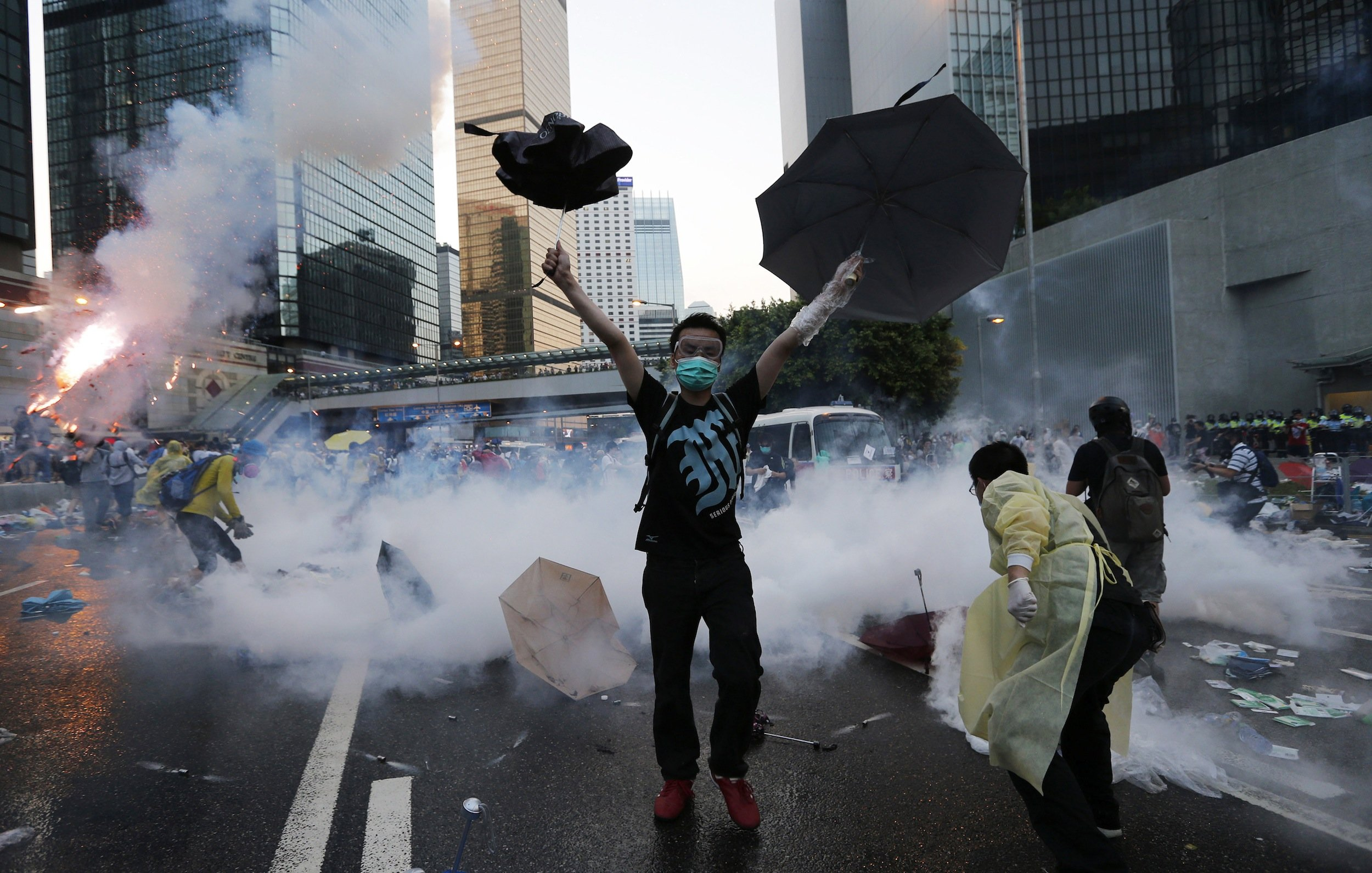 HK police use clubs, rubber bullets and tear gas to disperse demonstrators